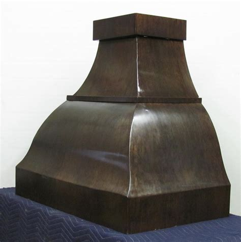 range hood sarl in the french arch bell copper range handcrafted in usa by the metal peddler