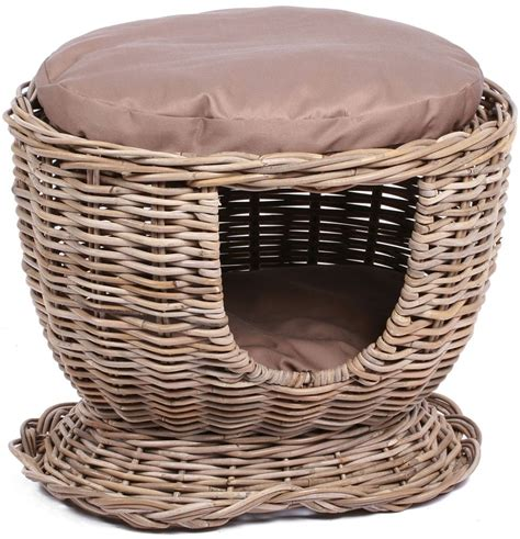 the wicker house buy the wicker merchant pet house with cushion online cfs uk