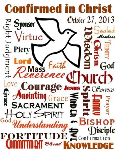 Confirmation Letter Phrases confirmation subway sacraments