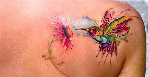 watercolor tattoos for females back shoulder tattoos watercolor back shoulder