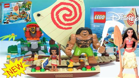 Lego Moana lego disney moana s voyage build set time lapse
