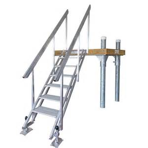 Stair Handrail Installation Portable Aluminum Stairs For Beach Or Waterfront Access