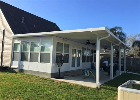 Patio Covers Contractors Aluminum Patio Cover Contractors In New Orleans Louisiana