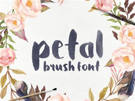 design font brush introducing petal a handcrafted brush font
