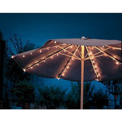 Patio Umbrella String Lights Room Essentials Umbrella String Lights Clear 72 Count Nature Rooms