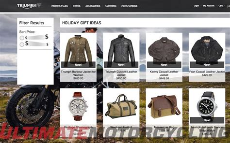 triumph motorcycles annual gift guide