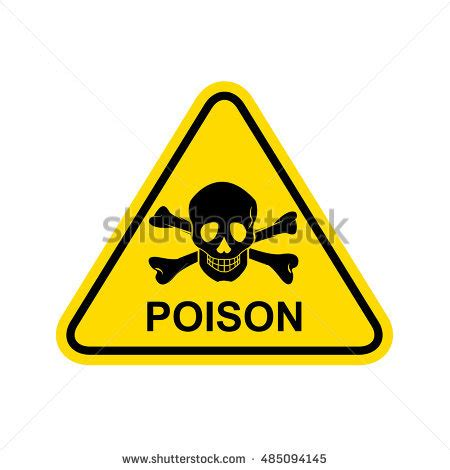 Small Size Green Toxic poison sign stock images royalty free images vectors