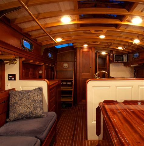 wooden boat interiors 509 best sailboat interiors images on pinterest sailing