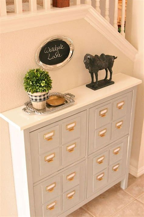 Ikea Hack Shoe Cabinet by Ikea Hack Faux Card Catalog