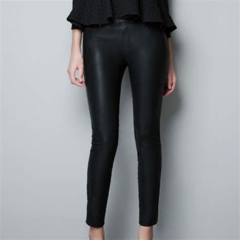 Fenuza Leging Zara Size M 43 zara zara faux leather with gold ankle zippers from tracy s closet on poshmark