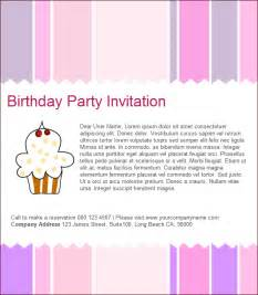 birthday invite email templates free images