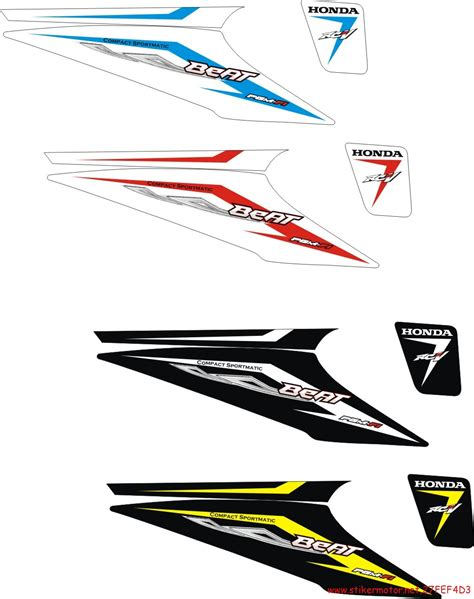 Striping Variasi Beat Fi 124 striping motor honda beat motif beat fi stikermotor net