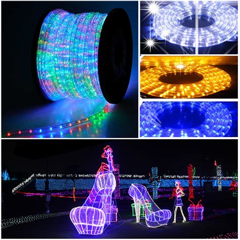 10m 20m 50m multi color changing led rope lights outdoor