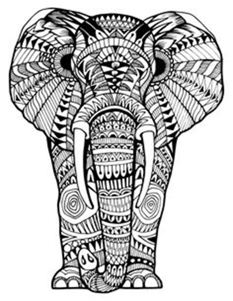 tumblr coloring pages elephants 1000 images about adult colouring elephants zentangles on