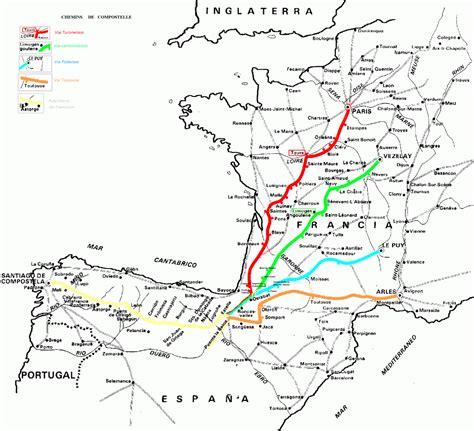 Chemin De St Jacques De Compostelle ã Vã Carte Jacques De Compostelle Tour Du Monde En