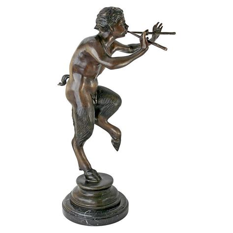 god statue 26 5 quot lost wax bronze pan fertility god flute playing faun