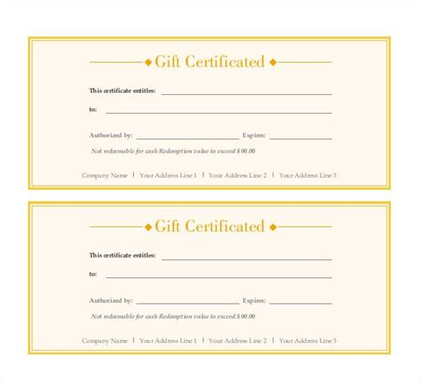 printable gift certificate pdf gift certificate template 42 exles in pdf word in