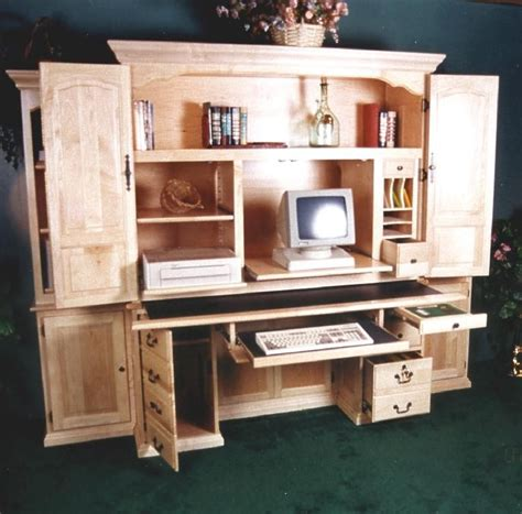 computer armoire desk for the home