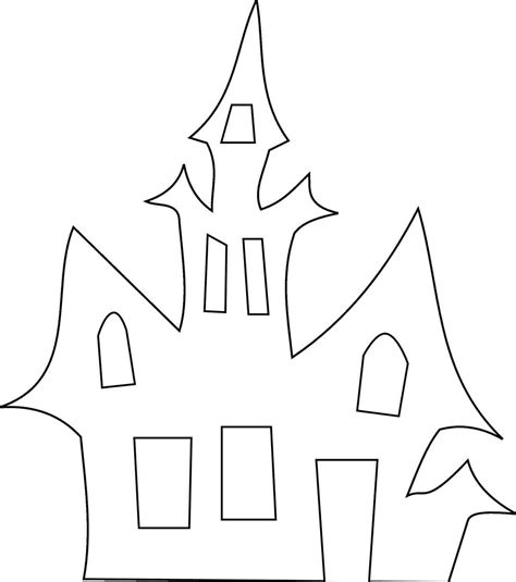 free printable haunted house template 4 best images of printable haunted house