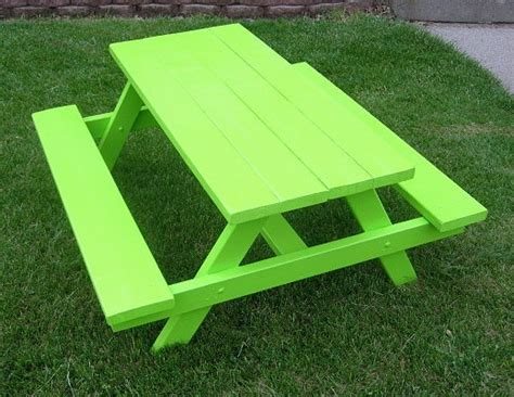 lime green bench children s picnic bench lime green 4 foot 150 00 via