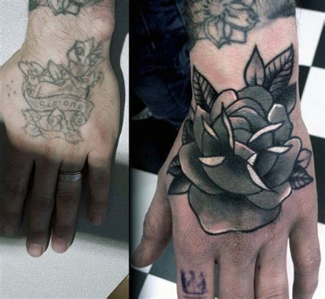 tattoo cover up on hand 60 cover up tattoos for men concealed ink design ideas