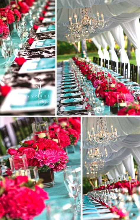 turquoise and pink wedding decorations fuschia and turquoise decor ahh my two favorite colors i