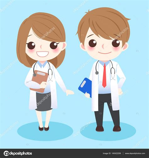 imagenes animadas de doctores doctores linda de la historieta vector de stock
