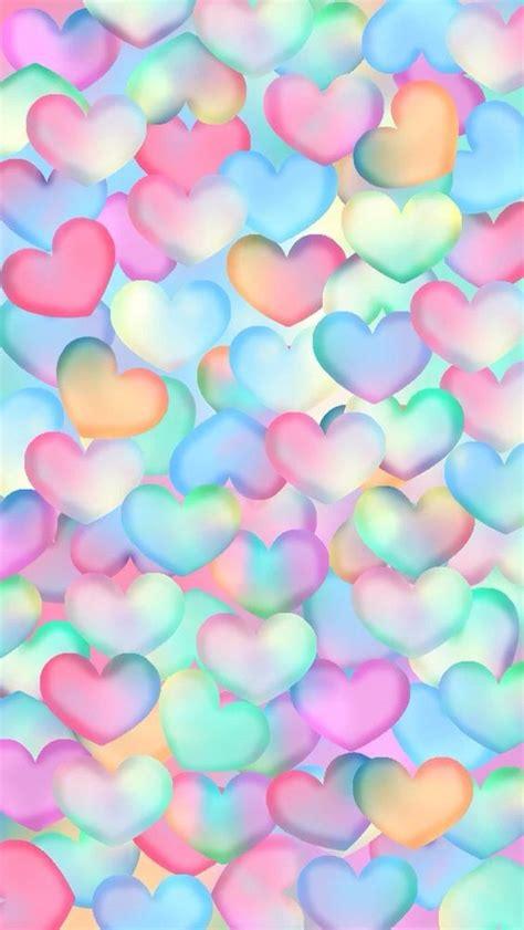 imagenes fondo de pantalla graciosas corazones multicolor fondo de bloqueo ringtina