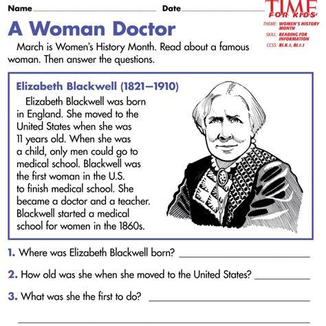 biography in english a woman doctor english worksheets ks2 free printable women