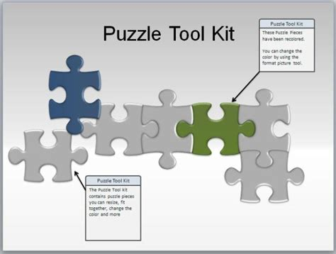 Best Jigsaw Puzzle Templates For Powerpoint Powerpoint Jigsaw Puzzle Pieces Template