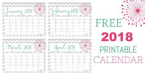 2018 colorful calendar free printable plus blank calendars free 2018 calendar to print keeping life sane