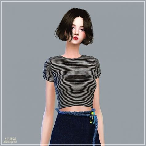 New Crop Top sims4 marigold new crop sleeves top sims 4 downloads