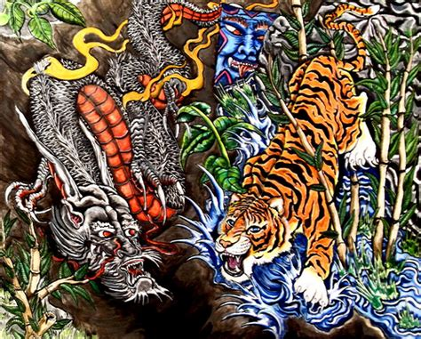tattoo dragon vs tiger dragon vs tiger flickr photo sharing