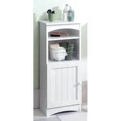 White Storage Cabinet Wood Bathroom Storage Cabinet White By Zenith Products