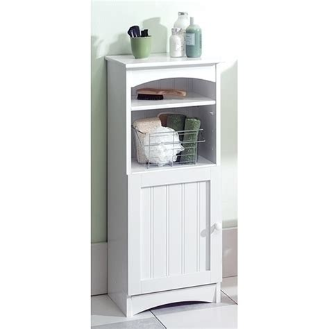 wood bathroom storage cabinet white by zenith products