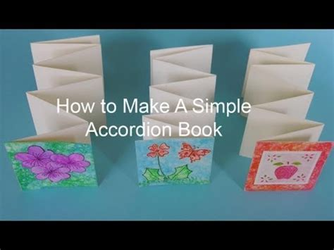 how to make picture books how to make a simple accordion book