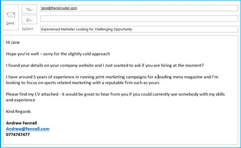How To Get A Job Before It S Advertised Job Tips At Response To Recruiter Email Template