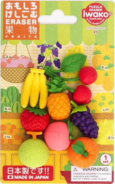 fruit erasers iwako radiergummi fr 252 chte set 8 st 252 ck aus japan fr 252 chte