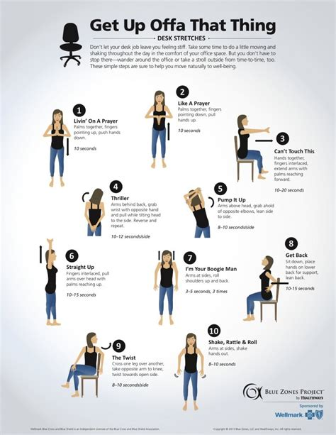 Office Desk Exercise Simple Tips For Staying Healthy At Your Desk Desks Stretches And Exercises