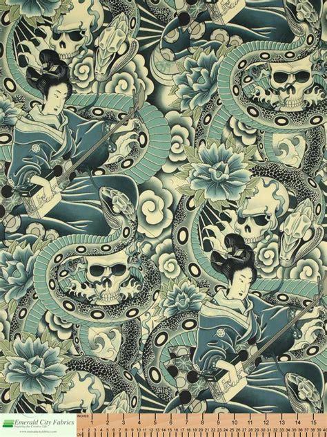 alexander henry upholstery fabric alexander henry zen charmer tea indigo fabric emerald