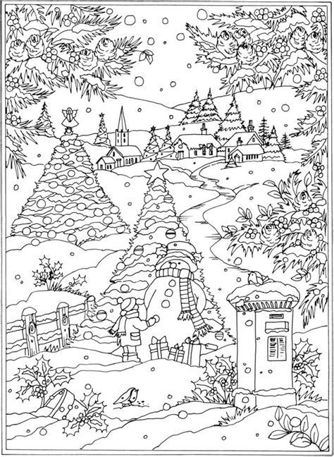 winter wonderland christmas coloring welcome to dover publications from creative haven winter wonderland coloring book christmas