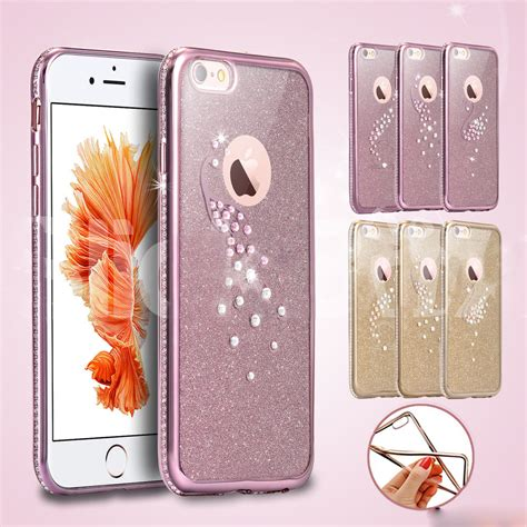 Softcase Bling Iphone 6 luxury bling tpu softcase cover x screen protector