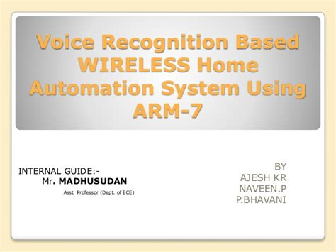 voice recognition based home automation system using arm 7