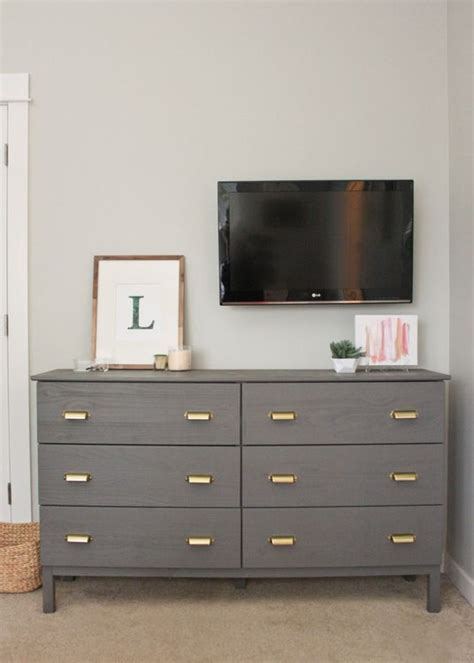 ikea hack tarva dresser makeover with benjamin paint and martha stewart home depot drawer
