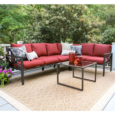 Patio Sectional Cushions by Blakely 5 Aluminum Patio Sectional Set With
