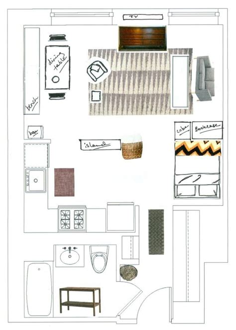 studio apartment floor plans furniture layout 25 best ideas about one room apartment on pinterest