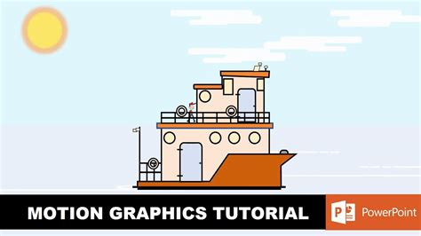motion graphics design youtube flat boat design and animation motion graphics in