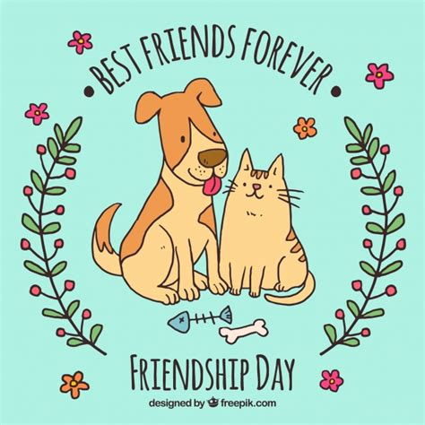 best friend pets best friends forever background pets design vector free