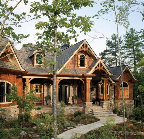 Craftsman Cabin | cottage style homes exterior paint colors modern house