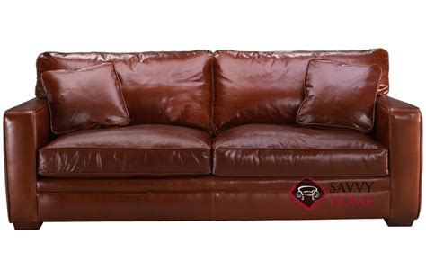 Houston Leather Queen By Savvy Is Fully Customizable By Sleeper Sofas Houston